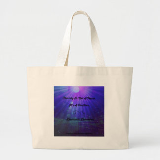Eternity Is Not A Place by Diamante Lavendar Large Tote Bag