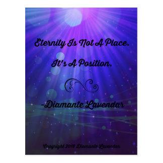 Eternity Is Not A Place by Diamante Lavendar Postcard