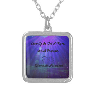 Eternity Is Not A Place by Diamante Lavendar Silver Plated Necklace