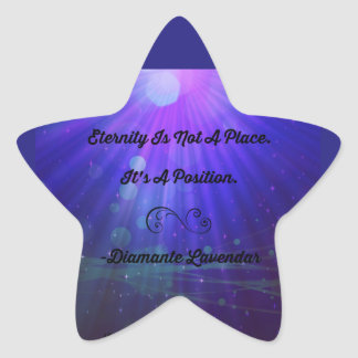 Eternity Is Not A Place by Diamante Lavendar Star Sticker