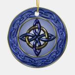 Eternity Knot Tree Ornament Circle