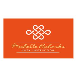 Eternity Knot Yoga Teacher, Life Coach Orange Business Card