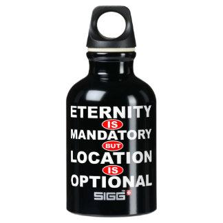 Eternity Mandatory Location Optional Aluminum Water Bottle