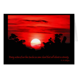 Eternity Quote Blazing Red Sunset Card