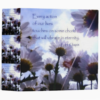 Eternity Quote Daisy Floral 3 Ring Binder