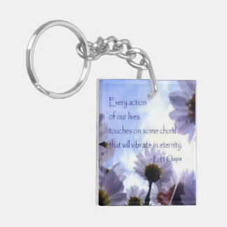 Eternity Quote Daisy Floral Keychain