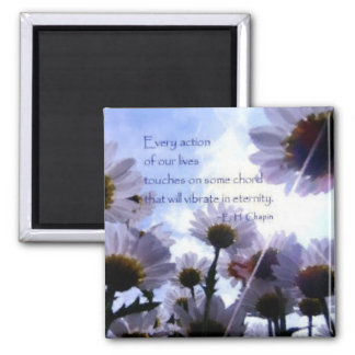 Eternity Quote Daisy Floral 2 Inch Square Magnet