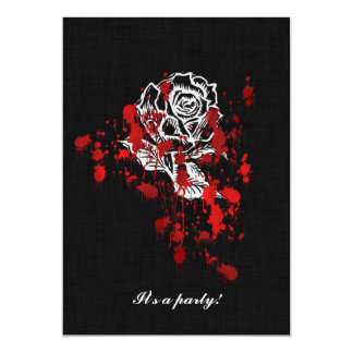 Eternity Rose Vampire Goth Wedding 5x7 Paper Invitation Card