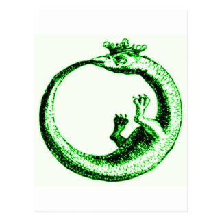 ETERNITY SERPENT VINTAGE PRINT IN GREEN POSTCARD