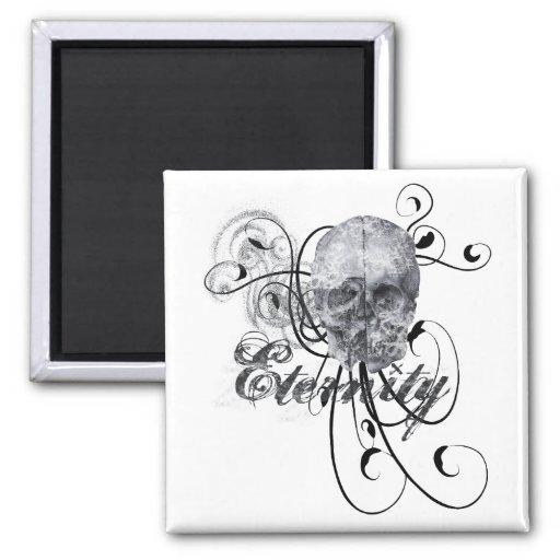 Eternity Skull 2 Inch Square Magnet