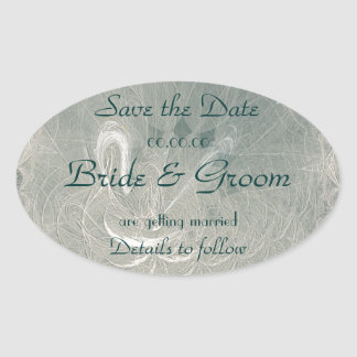 Eternity Swan Save the Date Sticker