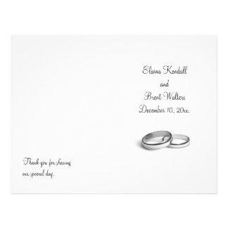 Eternity Wedding Program Flyer Design