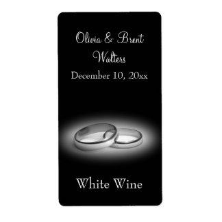 Eternity Wedding Wine Label (black)