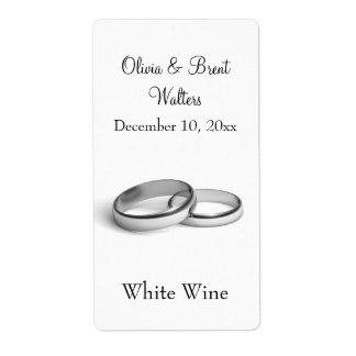 Eternity Wedding Wine Label (white) Shipping Label