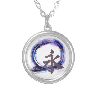 Eternity with Zen, Enso Round Pendant Necklace