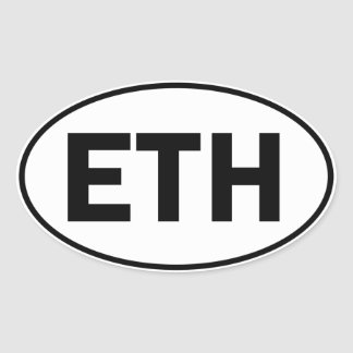 ETH Oval Identity Sign Oval Sticker