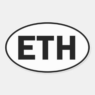 ETH Oval Identity Sign Oval Sticker