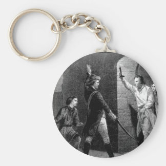 Ethan Allen and Capt. de la Place_War Image Keychain