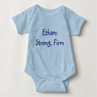 Ethan Baby Name Meaning Bodysuit