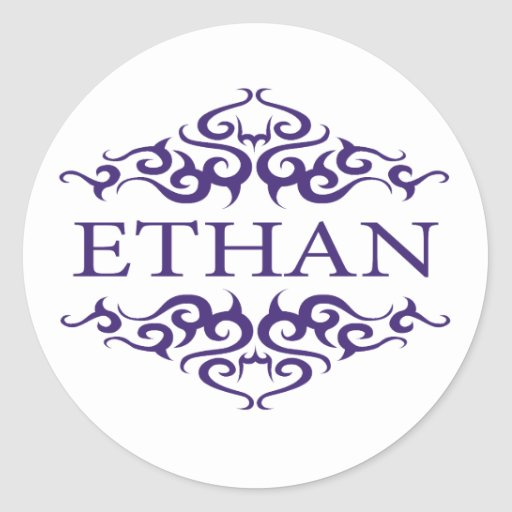 Ethan Classic Round Sticker