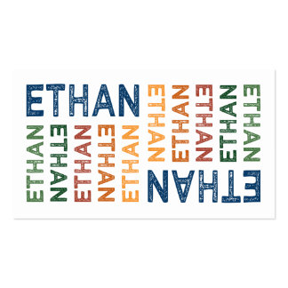 Ethan Cute Colorful Double-Sided Standard Business Cards (Pack Of 100)