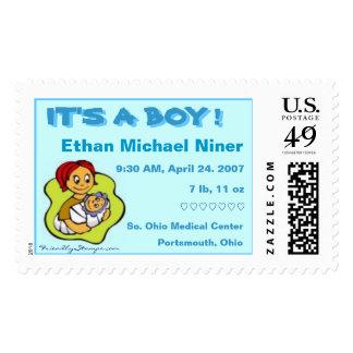 Ethan Michael Niner birth stamp
