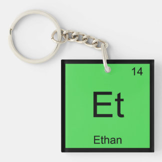 Ethan Name Chemistry Element Periodic Table Keychain