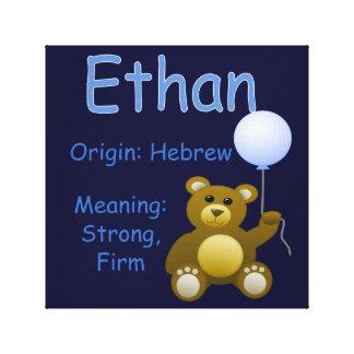 Ethan / Nursery Decor Canvas Print