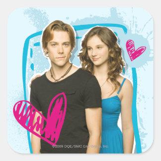 Ethan & Tara Square Sticker