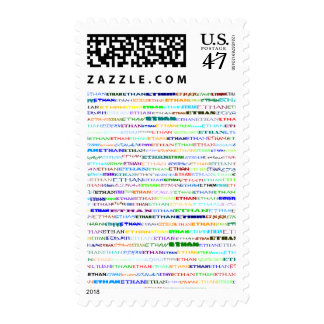 Ethan Text Design II Vertical Postage