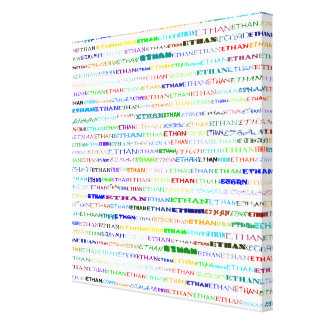 Ethan Text Design II Wrapped Canvas Canvas Print