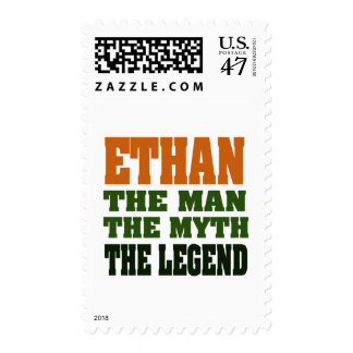 Ethan - the Man, the Myth, the Legend! Stamp