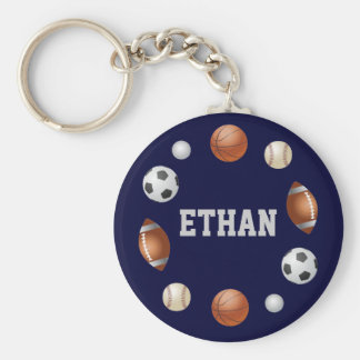 Ethan World of Sports Key Chain - Blue