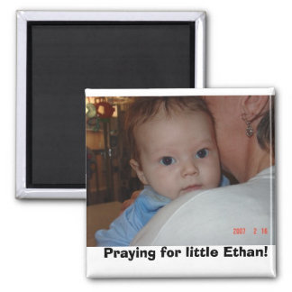 ethaneyes, Praying for little Ethan! 2 Inch Square Magnet