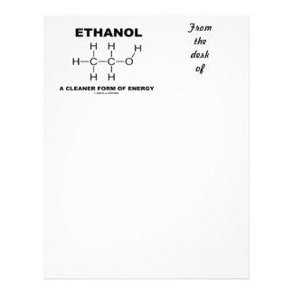 Ethanol A Cleaner Form Of Energy (Molecule) Letterhead