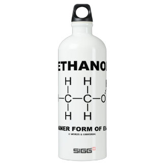 Ethanol A Cleaner Form Of Energy (Molecule) Water Bottle
