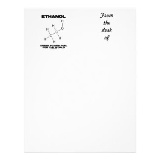 Ethanol Green Power Fuel For The World (Molecule) Letterhead Template