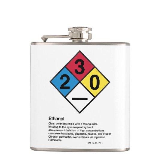 Ethanol HMIS/GHS Safety Label Flask