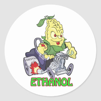 Ethanol Hot Rod Classic Round Sticker
