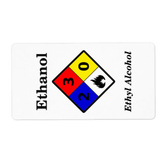 Ethanol MSDS Label Shipping Label
