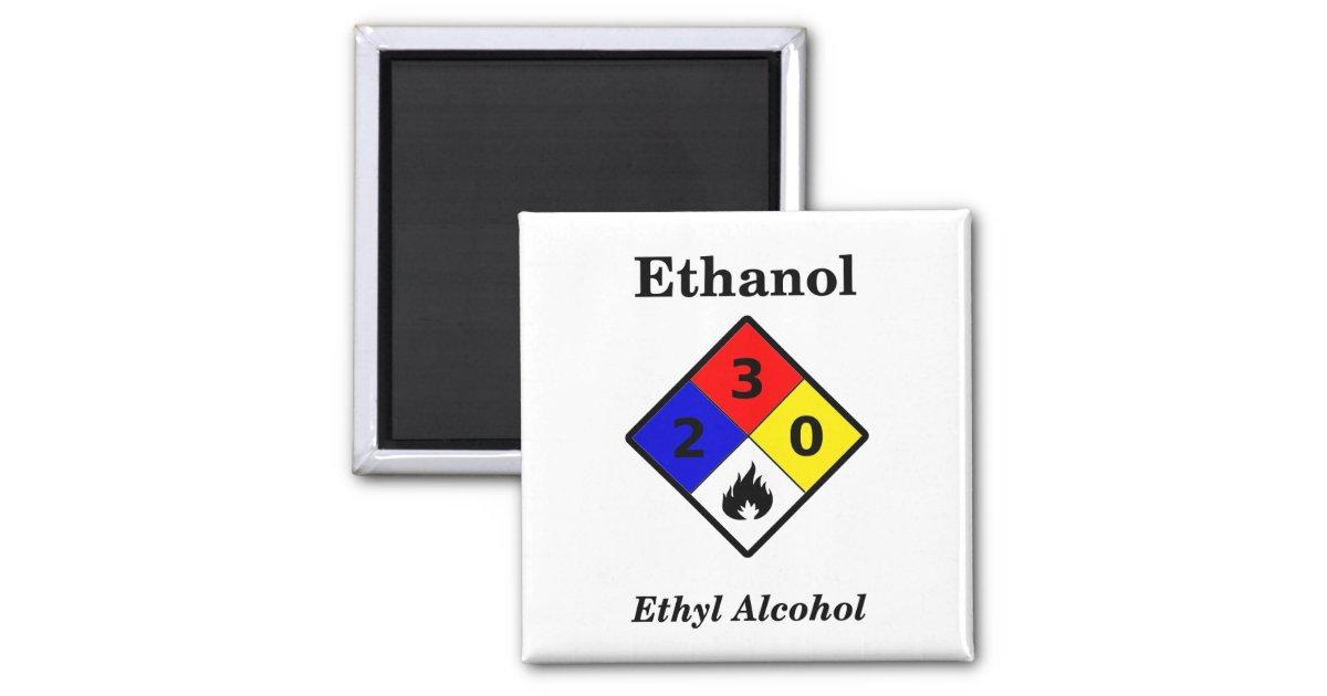 Ethanol Msds Warning Symbol Magnet Zazzle