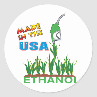 Ethanol - USA Classic Round Sticker