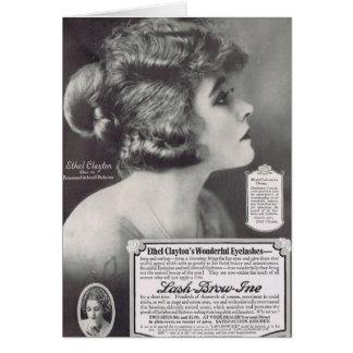 Ethel Clayton 1919 Mascara Ad Card