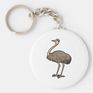 Ethel Emu Basic Round Button Keychain