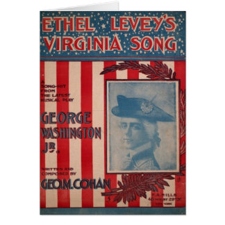 Ethel Levey's Virginia Song, Geo. M. Cohan Greeting Card