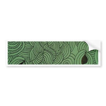 Professional Business Ether Formation Green Bumper Sticker