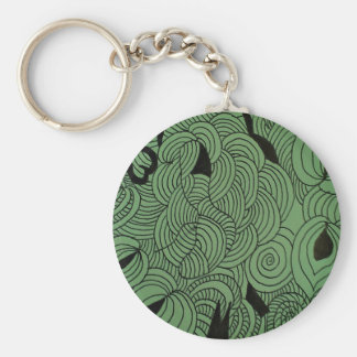 Ether Formation Green Keychain