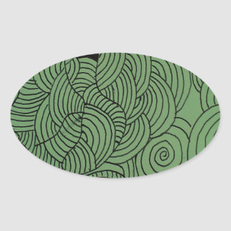 Ether Formation Green Oval Sticker