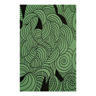 Ether Formation Green Stationery