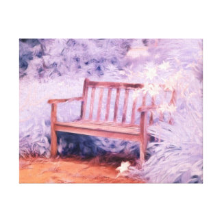 Ethereal bench canvas print